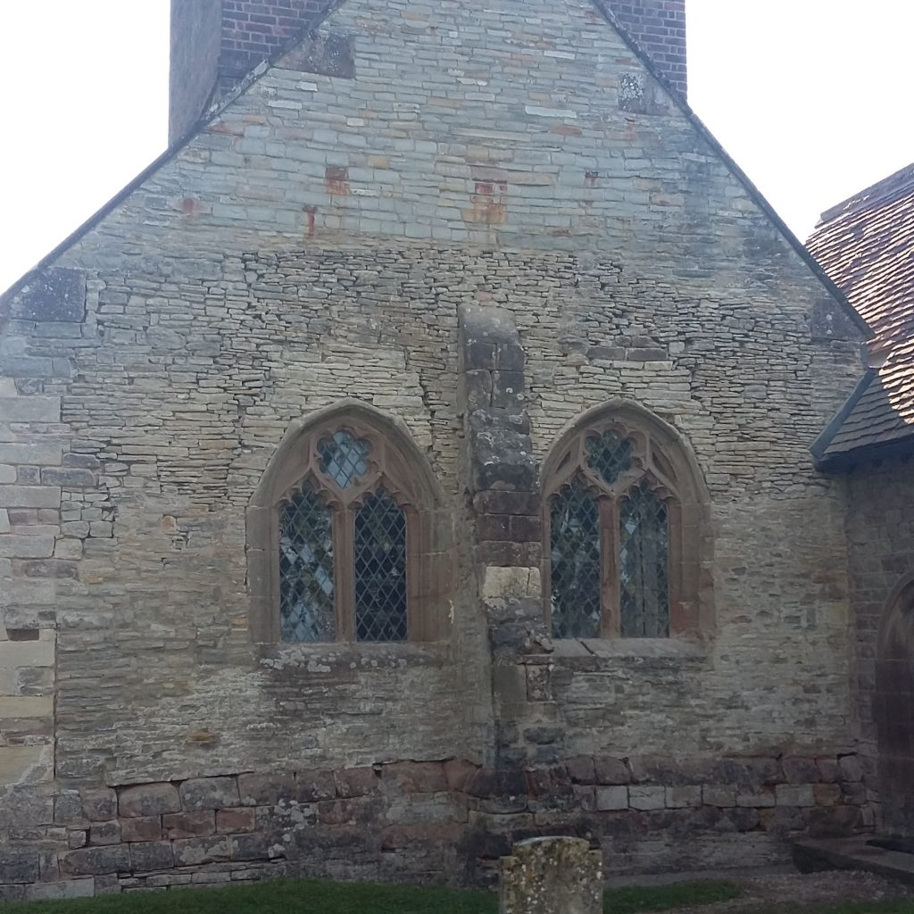 When The West Wall Was Repaire At Peopleton Church