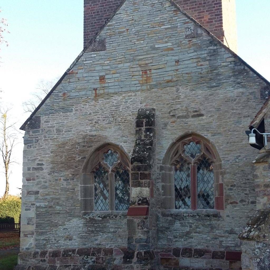 West Wall Repaired On Peopleton Church