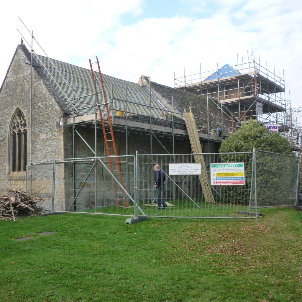 Roof Repairs On Peopleton Church